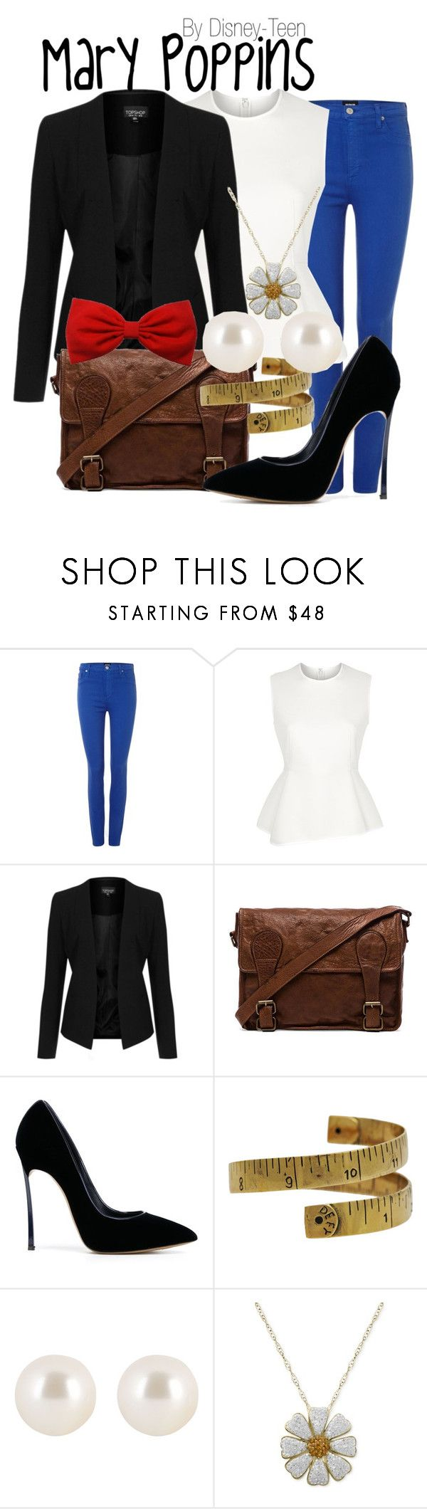 """Mary Poppins"" by disney-teen ❤ liked on Polyvore featuring Hudson Jeans, Alexander Wang, Topshop, VIPARO, Casadei, Monserat De Lucca, Henri Bendel, disney, disneybound and marypoppins"