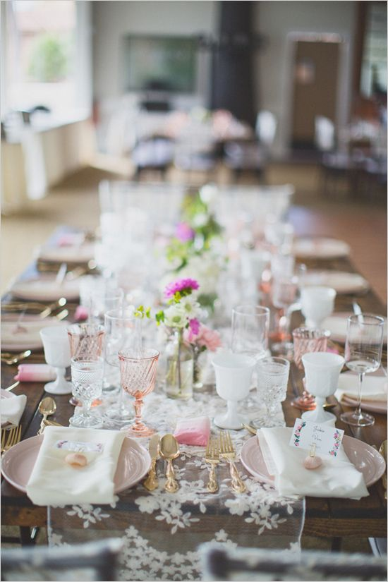 Rustic wedding ideas: missmatched vintage elegance @weddingchicks