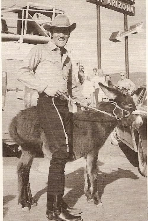 ElvisMatters member Nancy De Fleurquin just sent us this special picture of Elvis... and a burro.  Taken on the set of Stay Away Joe