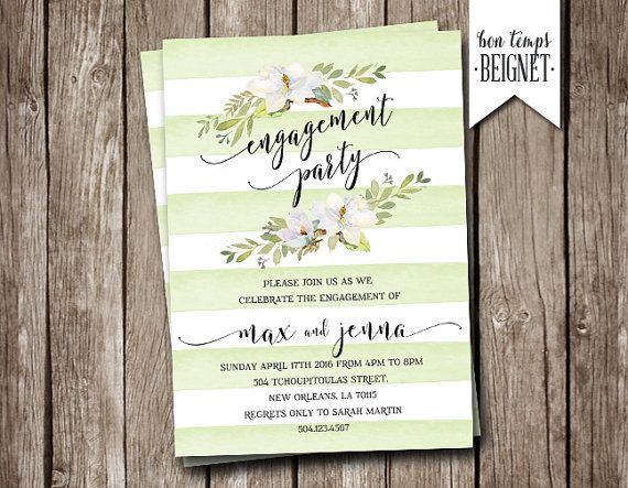 18 best invitations images on Pinterest Brushes, Cards and Champagne - free engagement party invitation templates printable