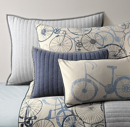 Bicycle Print Throw Pillow : 15 best b s big boy room images on Pinterest Bicycle decor, Big boy rooms and Vintage bicycles