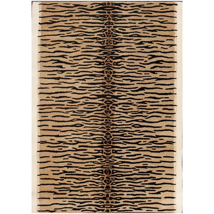 Abc Accent Gold Tiger Wool Area Rug 5 X8 36046