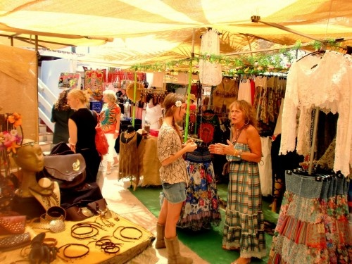 hippy market on Ibiza Island