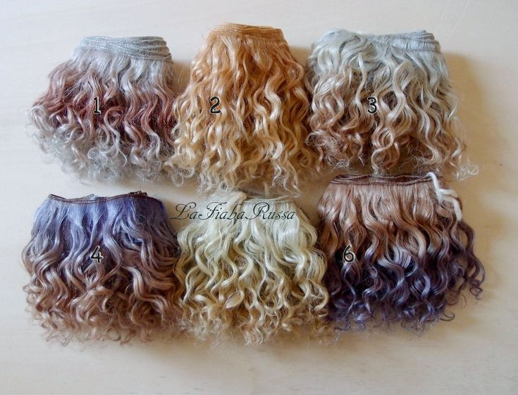 Weft doll hair mohair goat hair 1 m hand dyed colors silver, brown, golden violet for waldorf custom Blythe wig natural by laFiabarussa