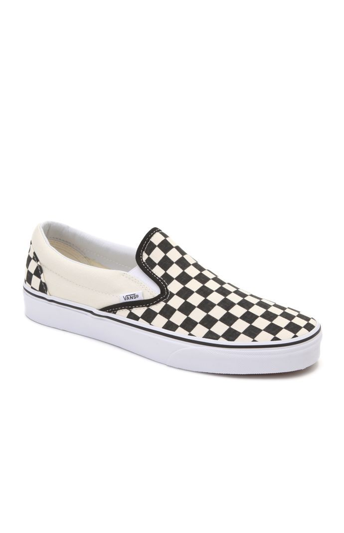 Checkerboard Slip-On Shoes