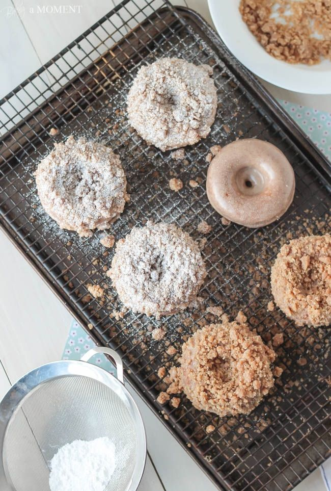Homemade Crumb Donuts | Baking a Moment Cake for mom #cake #confectionery