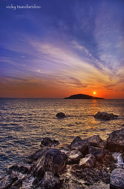 Sunset at Kalymnos Island Greece