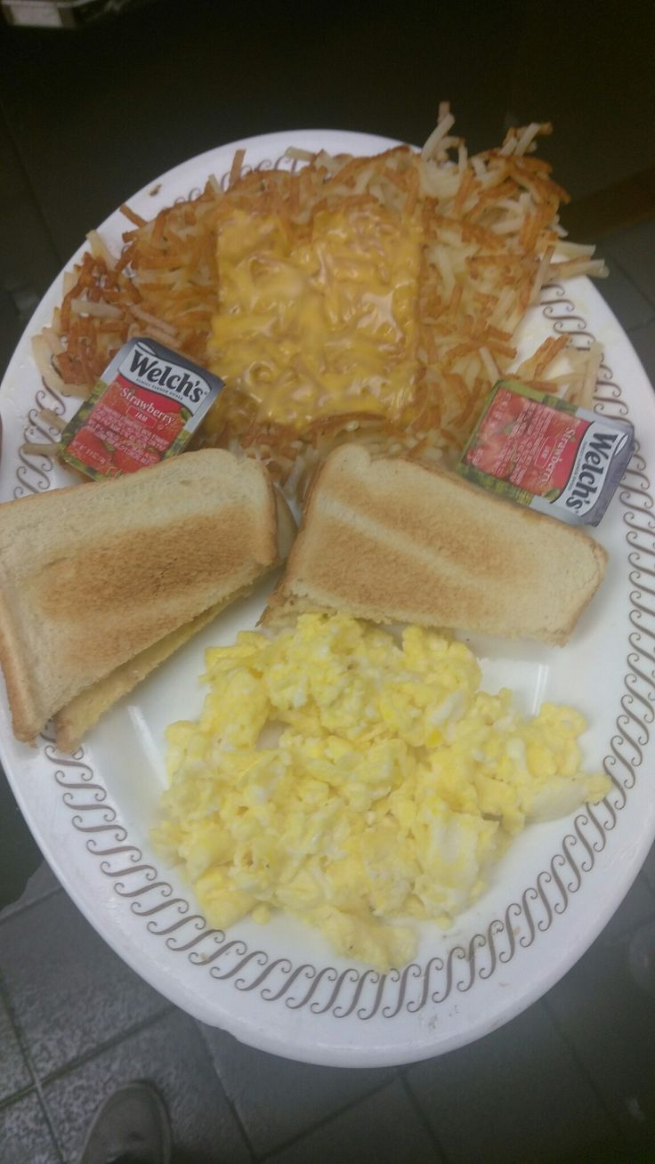 Order Scramble With Hash Browns Covered ☺☺☺it's Waffle