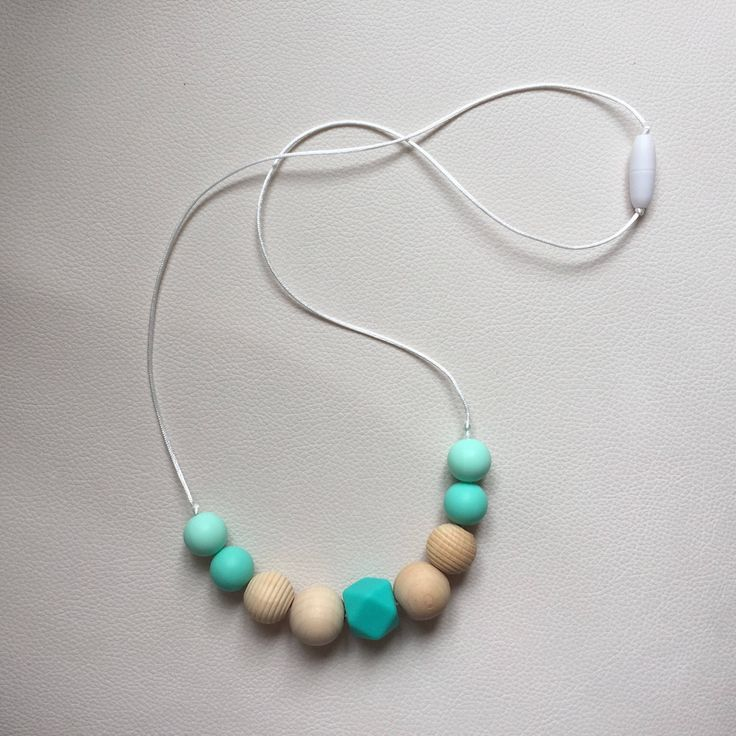 A personal favourite from my Etsy shop https://www.etsy.com/ie/listing/555414651/silicone-teething-necklace-nursing