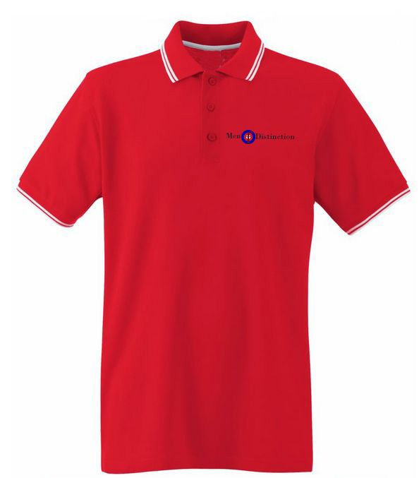 Men Of Distinction  Embroided Polo Shirt Red