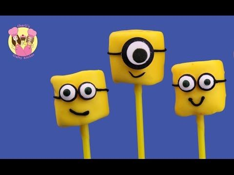 MINIONS MARSHMALLOW POPS - cutest minions movie treats ever & easy how to - Despicable ME - YouTube