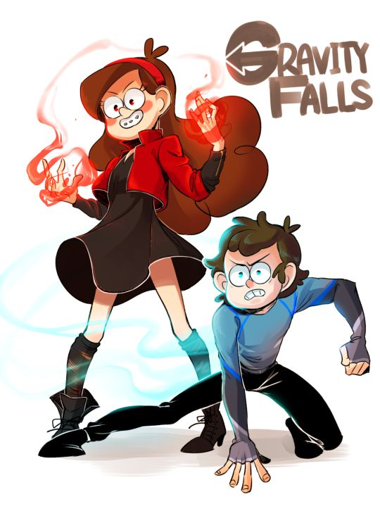 """""""Gravity Falls"""" meets """"Avengers: Age of Ultron"""" (Mabel as Scarlet Witch & Dipper as Quicksilver)"""