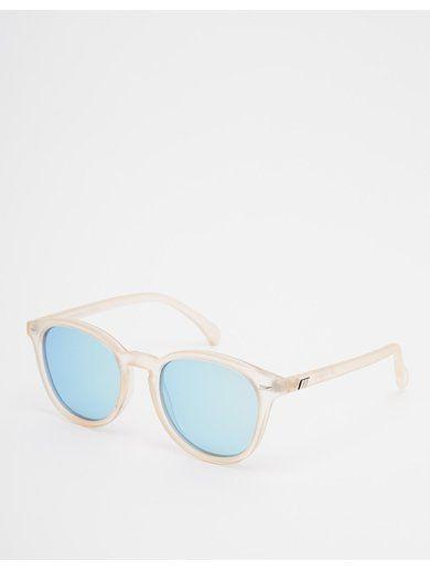 Le Specs Bandwagon Round Mirror Sunglasses - Pink www.sellektor.com