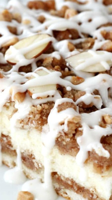 Toffee Almond Streusel Coffee Cake | Recipe | Streusel Coffee Cake ...