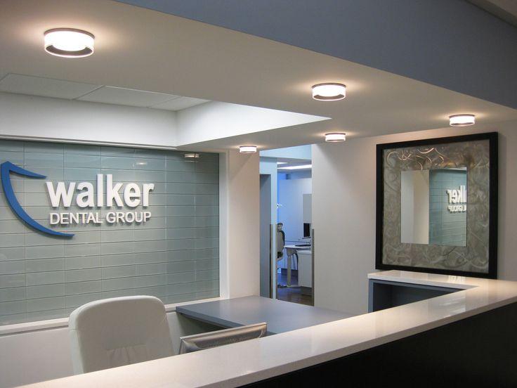 Prominent Logo Behind Reception Front Desk Inspiration