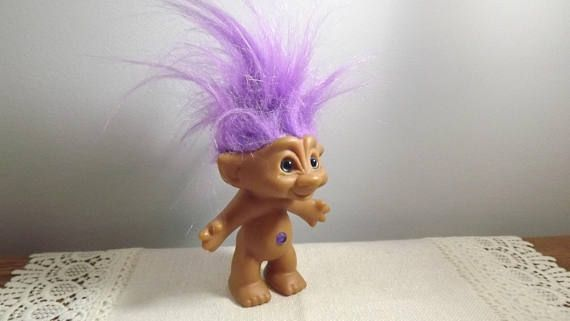 Vintage Ace Treasure Troll 1980s Belly Button Jewel Doll
