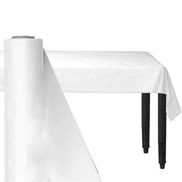 White Jumbo Plastic Banqueting Roll 76m Plastic Tablecloth Each Plastic Table Covers Plastic Tables Plastic Tablecloth