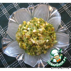 Салат из жаренных цуккини с яйцом