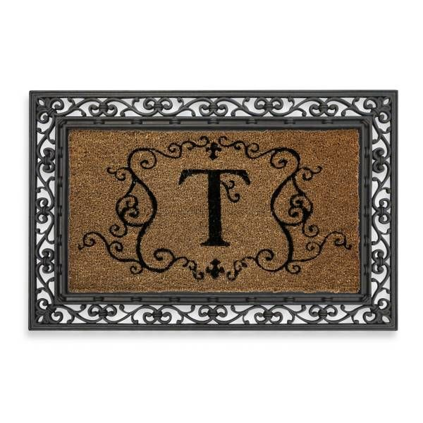 Monogram Letter Quot T Quot Door Mat Insert Beds Monograms And