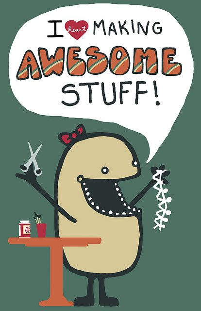 Yeah!: Crafts Quotes, Crafts Rooms, Paper Dolls, Mod Podge, Art Rooms Posters, Funny, Paper Chains, The Crafts, Awesome Stuff