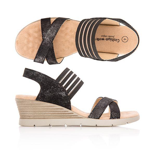 Cushion Walk Comfort Skin Wedge Sandal