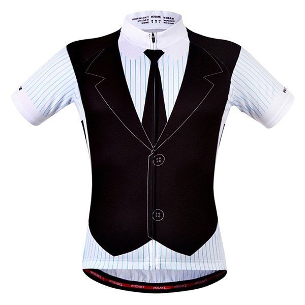 19.5$  Buy now - http://did9g.justgood.pw/go.php?t=187035001 - Fashionable False Waistcoat Design Men's Short Sleeve Summer Cycling Jersey 19.5$