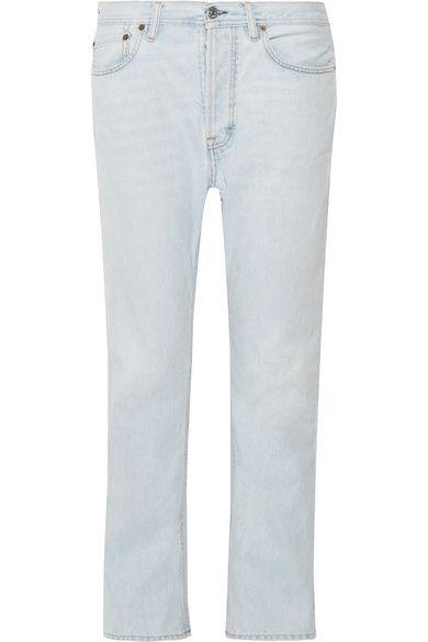 Acne Studios | Log high-rise straight-leg jeans | NET-A-PORTER.COM