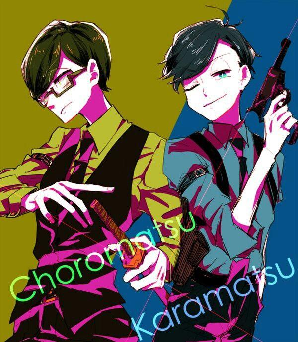 Osomatsu-san-  Karamatsu and Choromatsu #Anime「♡」