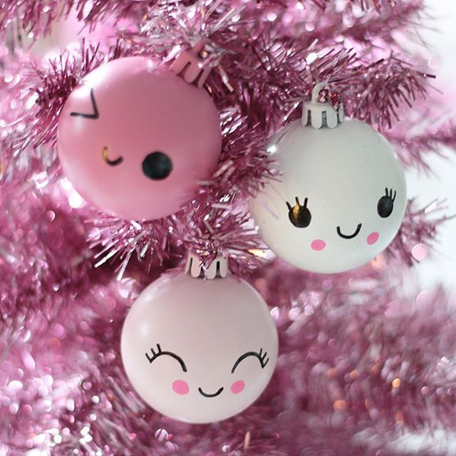 Esferas kawaii para tu arbol de navidad