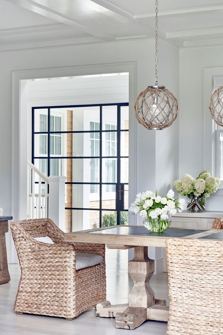 12 Marvelous Coastal Kitchen Makeover Ideas Neutral Dining Room Coastal Living Rooms House Interior