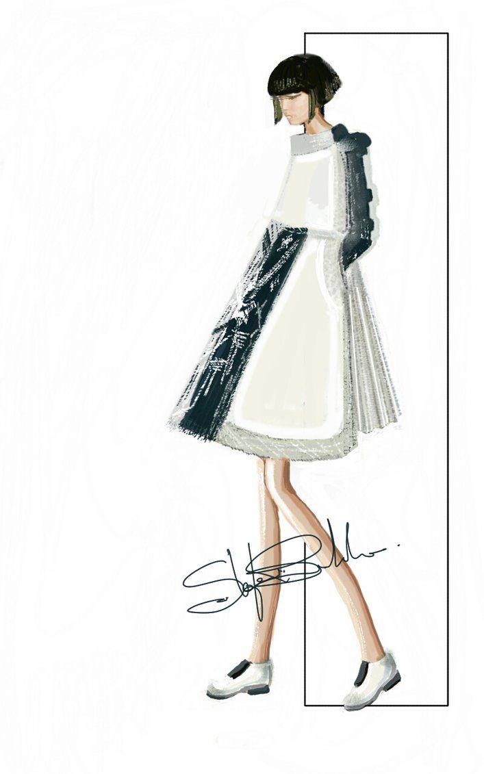 """CORDA"" Sketch   Stefania Belmonte   my collection   Fashion Illustration"
