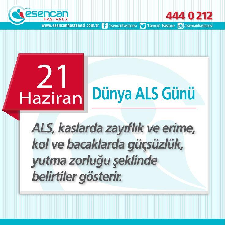 ALS (Amiyotrofik Lateral Skleroz, Motor Nöron Hastalığı)  Bedenimizin hareketini sağlayan sinir hücrelerinin bilinmeyen bir şekilde ölümünden kaynaklanmaktadır.  Sıklığı 100 binde 3 gibidir.  Hastaların duyu fonksiyonları korunur. Dolayısıyla dokunma sıcak soğuk ve ağrı hissini kaybetmezler.  Genellikle konuşma bozukluğu, yutkunma bozukluğu şeklinde ya da el-kol kaslarında güçsüzlük şeklinde başlar. Bazı hastalarda başlangıçta özellikle gece ortaya çıkan kramplar, fasikülasyon denen kas…