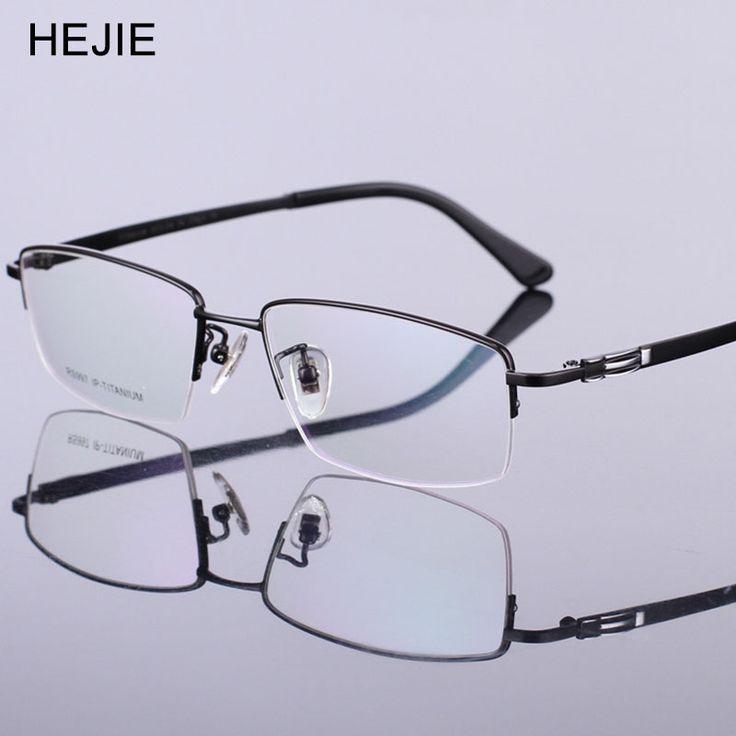 Grade Men Pure Titanium Eyeglasses Frames Brand Half Frame Myopia Optical Glasses Frames For Male Size 56-17-140mm Y1027