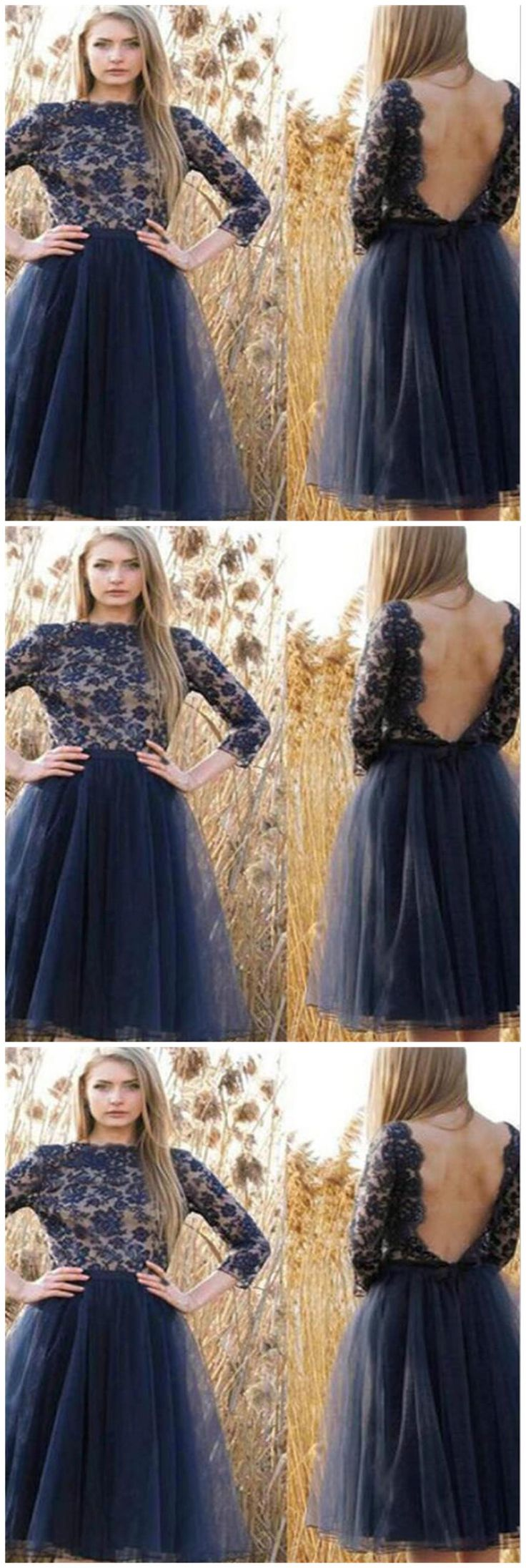 Tulle Homecoming Dress,Navy Blue Prom Dresses, Backless Homecoming Dresses, Sweet 16 Dresses, Cocktail Dresses,Junior Homecoming Dresses ,Long Sleeves Homecoming Dresses ,Graduation Dresses