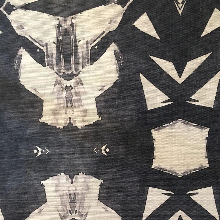 42614-1M Black Grasscloth Wallcovering