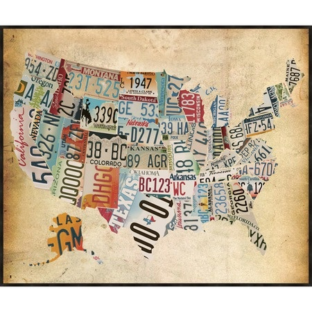 A little Americana on this 4th: Vintage Map Wall Art from the Born in the USA, $72.95, via @jossandmain.