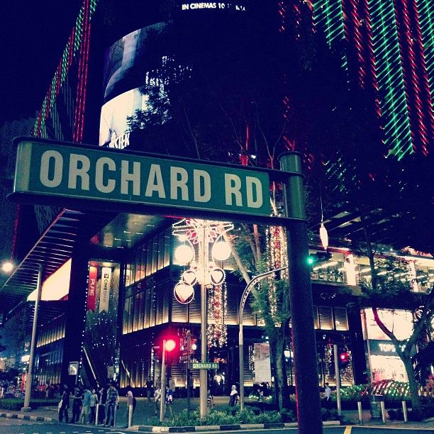 Orchard Road in Singapore
