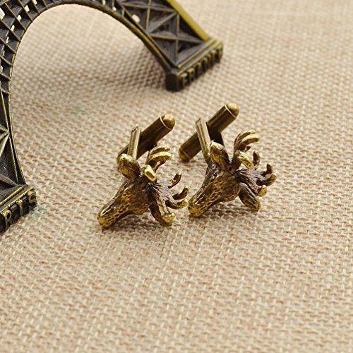 Amazon.com: Deer Head Design Cuff Links Vintage Shirt Cufflinks Wedding Collection Gfit 1 Pair: Jewelry