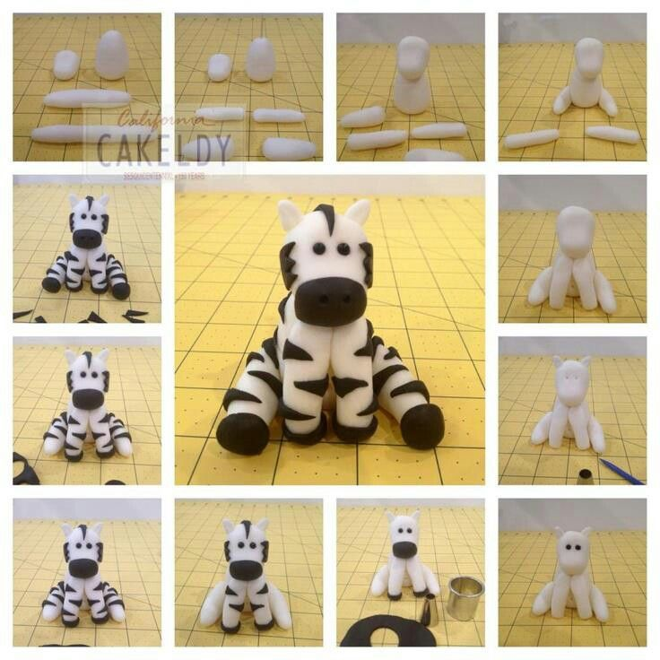 Fondant Zebra Cake Tutorials Animal Figures - For all your cake decorating supplies, please visit craftcompany.co.uk