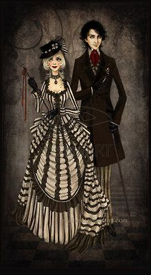 cute Goth/Vic couple