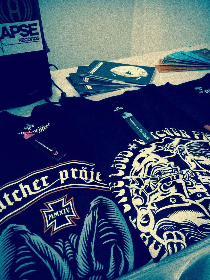 #Tshirts #booth #artmarket #stridemarket #straywall #butcherproject #ironcross #motorcycles