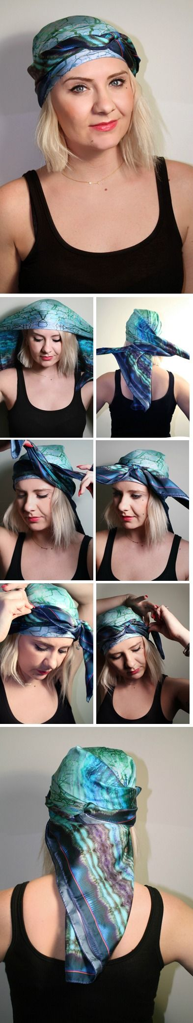 How to Tie a Scarf: Boho Wrap