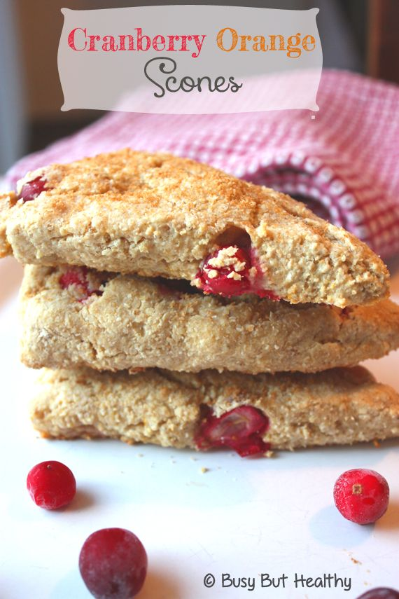 These Cranberry and Orange Scones are made with oat flour to make them gluten free. Less fat than traditional scones, with some added protein as an option.
