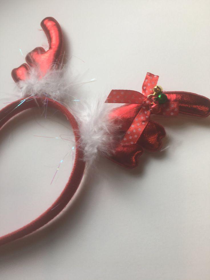 Reindeer Antlers headband, christmas headband,Christmas Jingle Bell,Snowflake,Dee ,Rudolph Costume,Antlers headband,Hair bows by Boutiquechicbya on Etsy