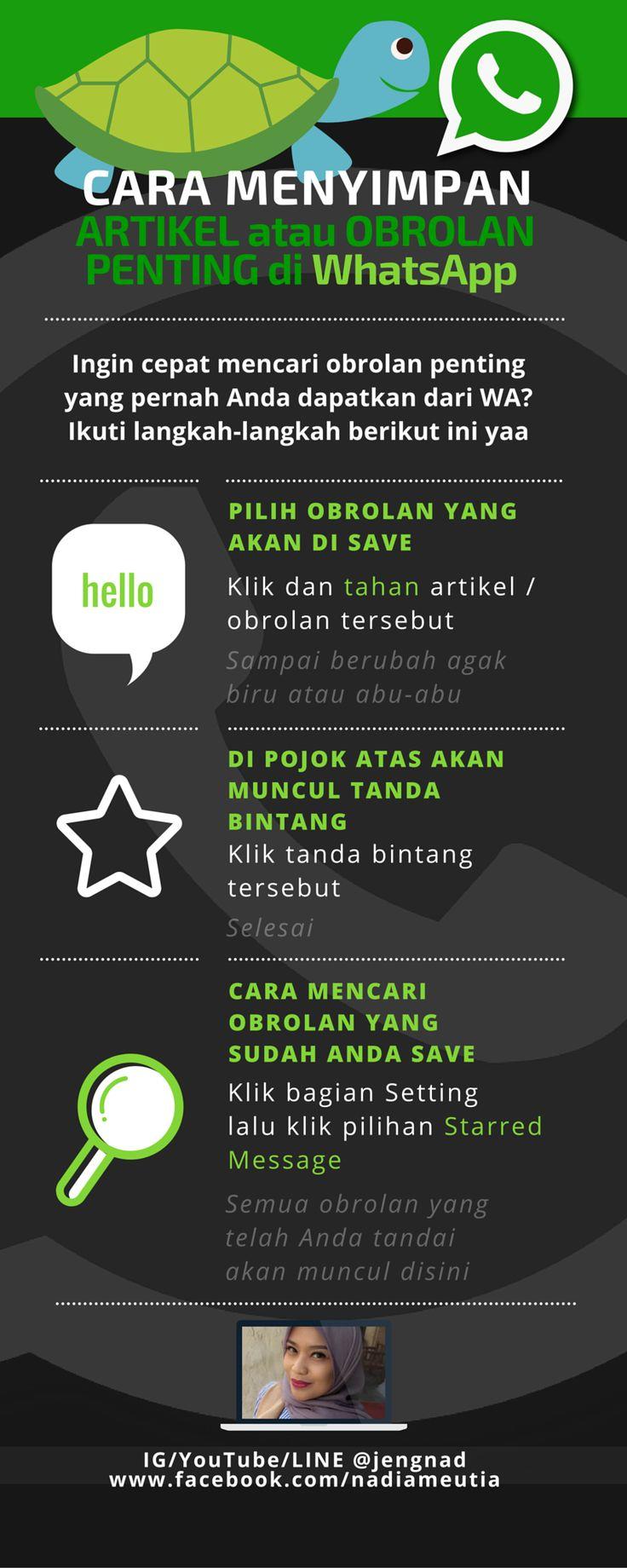 Cara menyimpan obrolan penting di WhatsApp (WA) anda