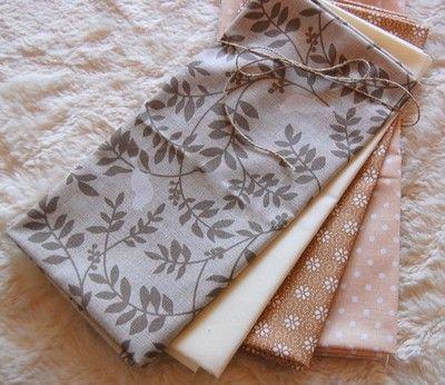 Kup teraz na allegro.pl za 24,00 zł - ZESTAW TKANIN bawełna - patchwork ptaszki i beże  Patchwork fat quarters birds&beige