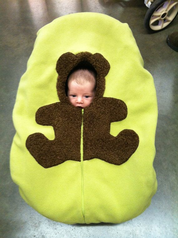 Bear Baby Car Seat Cover... on green