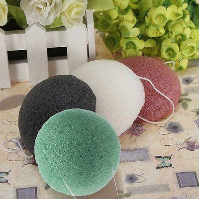 Konjac Konnyaku Fiber Face Makeup Wash Pad Cleaning Sponge Puff Exfoliator SR1G