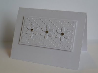 great CAS card. Love the white on white. Great for any occasion