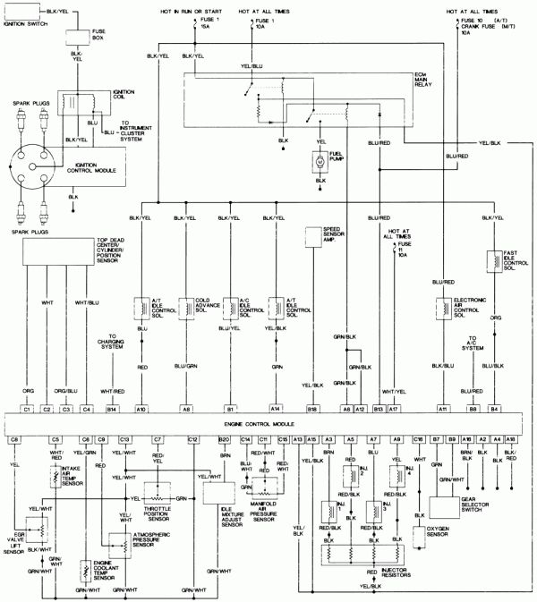 12 94 Honda Accord Engine Wiring Diagram Engine Diagram Wiringg Net Honda Accord Repair Guide Diagram